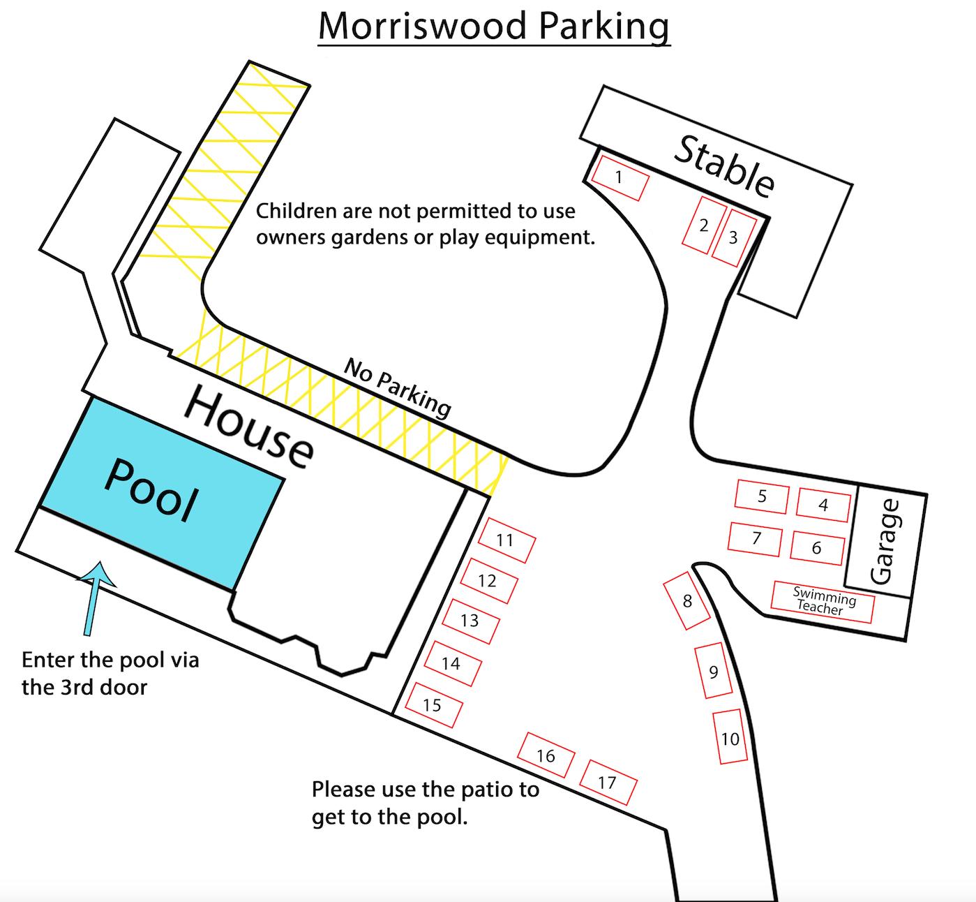 Pool rules for morriswood swimming pool horsham swim school for Holbrook swimming pool opening hours