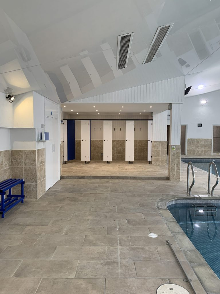 Side view of Morriswood Swimming Pool Horsham