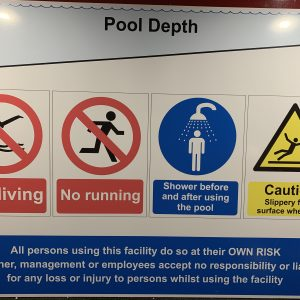 Horsham Swim School health and Safety signs